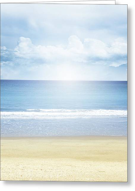Beach Photos Greeting Cards - Summer light Greeting Card by Les Cunliffe