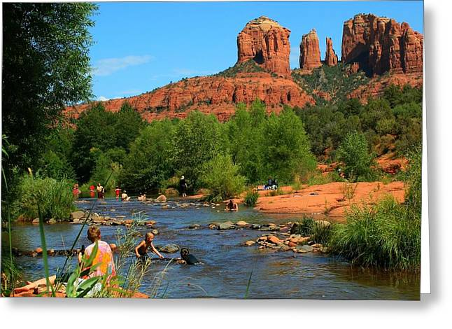 Red Rock Crossing Greeting Cards - Summer Lovin Greeting Card by Miles Stites