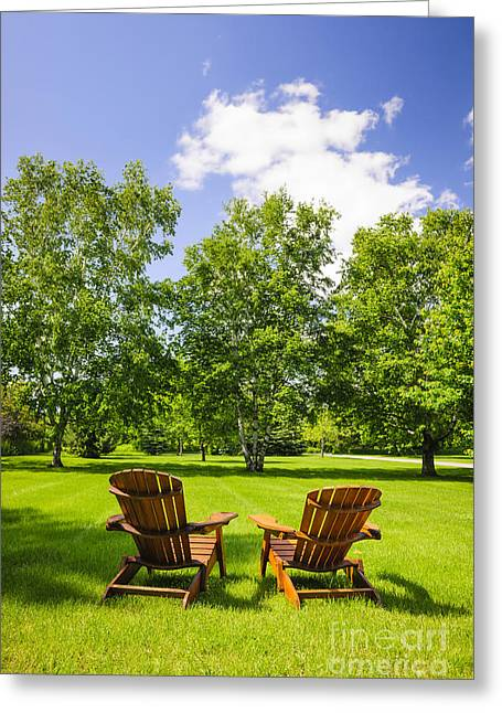 Lawn Chairs Greeting Cards - Summer relaxing Greeting Card by Elena Elisseeva