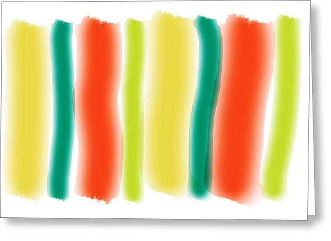 Abstract Art Prints Digital Art Abstract Art Greeting Cards - Summer Sizzle Greeting Card by Bonnie Bruno