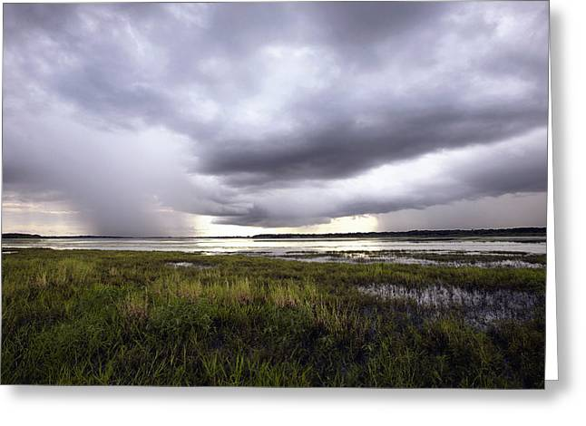 Summer Storm Over the Lake Greeting Card by Skip Nall