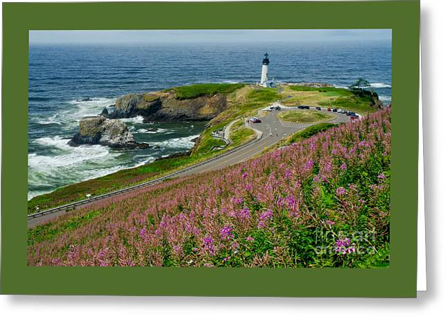 Historical Images Greeting Cards - Summer Time At Yaquina Head Greeting Card by Nick  Boren