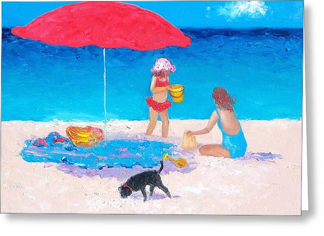 Seaside Decor Posters Greeting Cards - Summer Vacation Greeting Card by Jan Matson