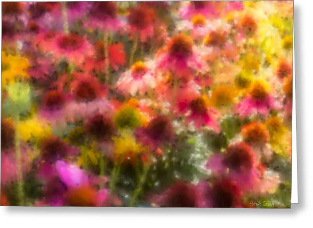 Yellow Coneflower Greeting Cards - Summers Palette Greeting Card by Heidi Smith
