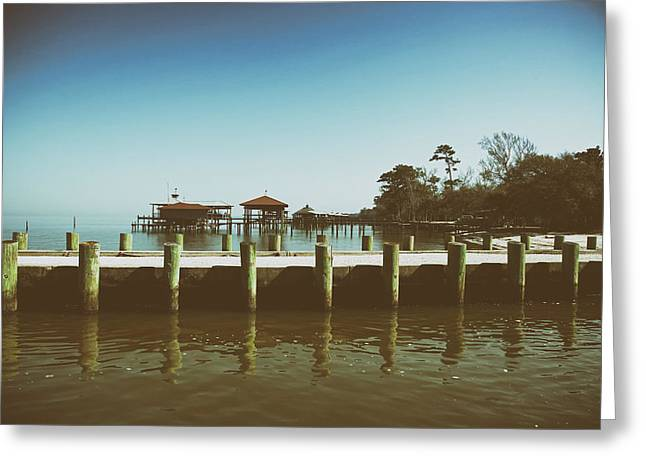 Wooden Building Greeting Cards - Summertime at Point Clear Alabama Greeting Card by Mountain Dreams