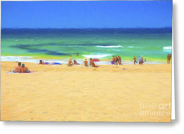 Whale Beach Greeting Cards - Summertime Greeting Card by Sheila Smart