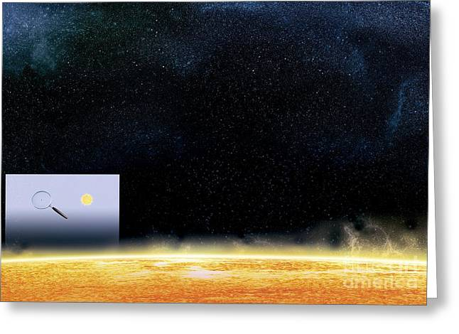 Large Scale Greeting Cards - Sun And Betelgeuse, Artwork Greeting Card by Claus Lunau