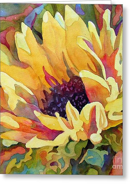 Recently Sold -  - Yellow Sunflower Greeting Cards - Sun Jewels 2 Greeting Card by Wendy Westlake