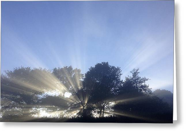 Beautiful Scenery Greeting Cards - Sun rays Greeting Card by Les Cunliffe