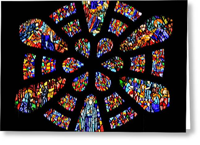 Stained Glass Ireland Greeting Cards - Sunday Church Greeting Card by Will Burlingham