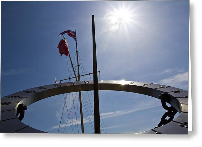 Recently Sold -  - Docked Boat Greeting Cards - Sundial Greeting Card by David Pyatt