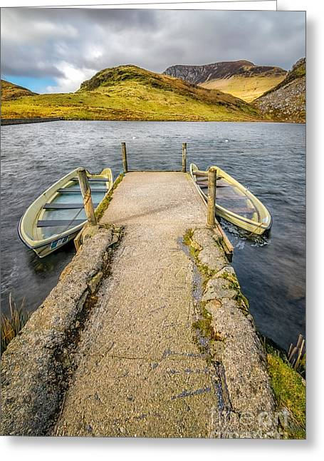 Pier Digital Greeting Cards - Sunken Boats Greeting Card by Adrian Evans