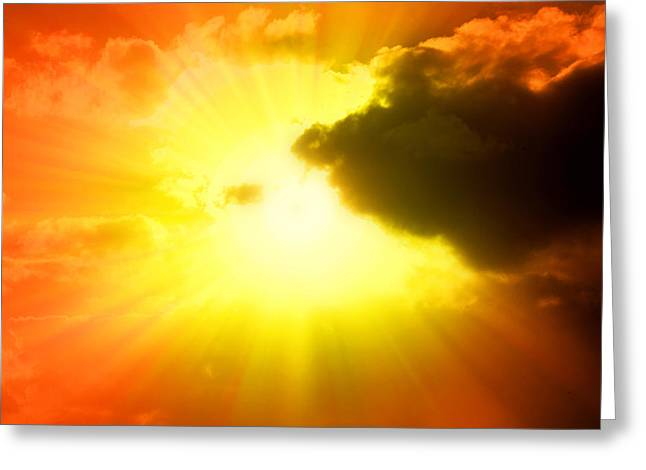 Afterlife Greeting Cards - Sunlight Greeting Card by Les Cunliffe