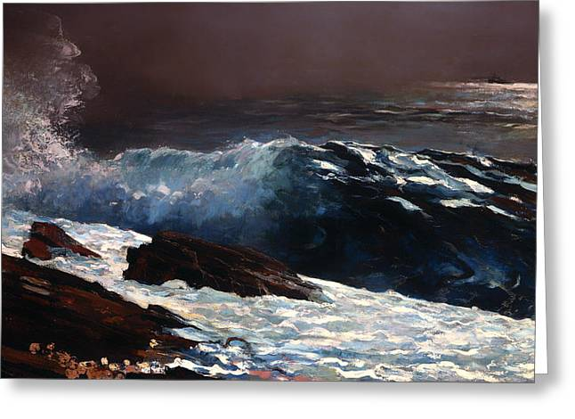 Recently Sold -  - Field. Cloud Greeting Cards - Sunlight on the Coast Greeting Card by Winslow Homer