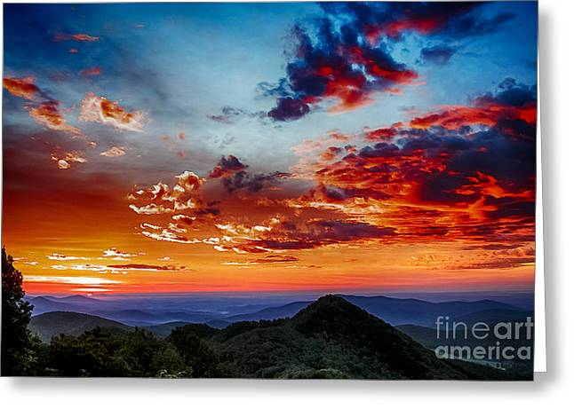 Parkway Digital Greeting Cards - Sunrise Blue Ridge Parkway Greeting Card by Thomas R Fletcher