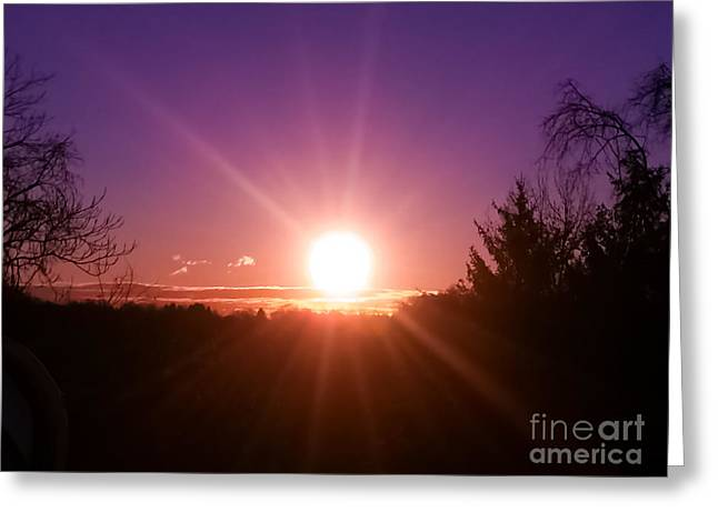 Clique Greeting Cards - Sunrise Greeting Card by Charlie Cliques