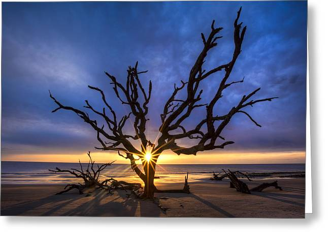 Beach Greeting Cards - Sunrise Jewel Greeting Card by Debra and Dave Vanderlaan