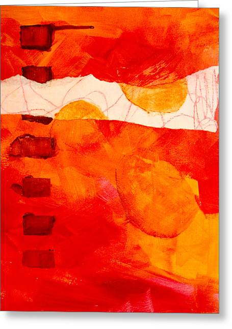 Tangerine Greeting Cards - Sunrise Greeting Card by Nancy Merkle