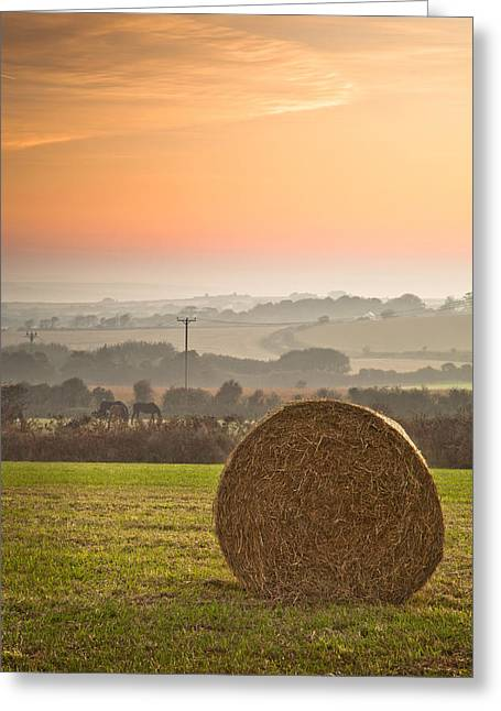 Cubert Greeting Cards - Sunrise over Cornwall Greeting Card by Christine Smart