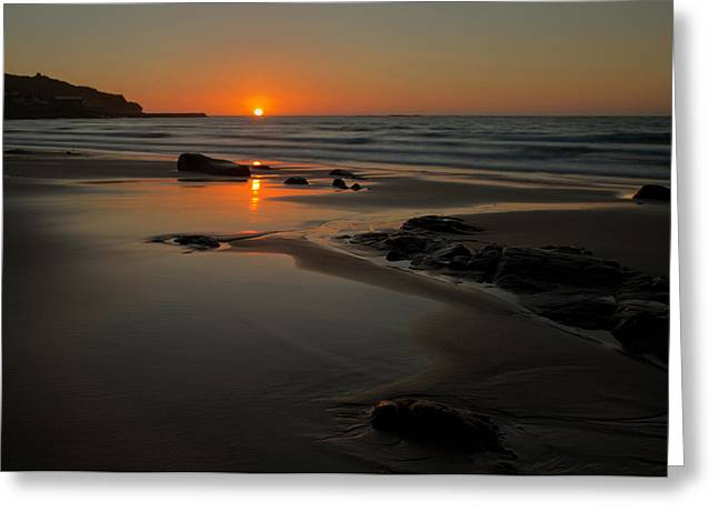 Sennen Cove Greeting Cards - Sunset at Sennen Greeting Card by Pete Hemington
