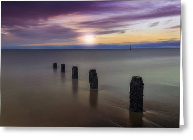 Seacapes Greeting Cards - Sunset Beach Greeting Card by Ian Mitchell