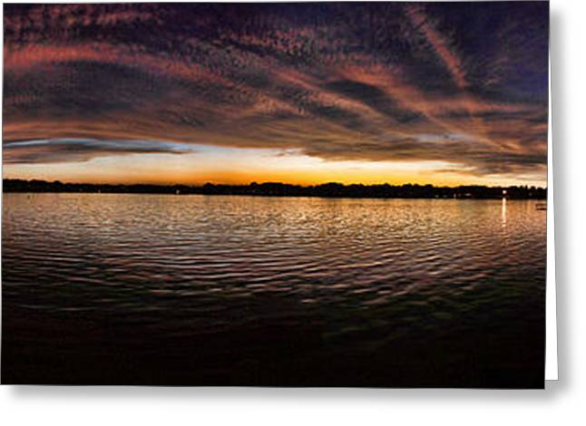 Gloaming Greeting Cards - Sunset by the Lake Greeting Card by Jaime Aguirre