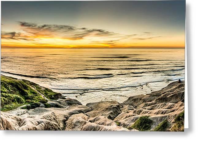 San Diego Greeting Cards - Sunset Cliffs Three Greeting Card by Josh Whalen