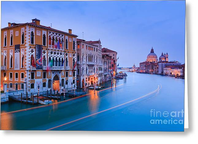 Accademia Greeting Cards - Sunset in Venice Greeting Card by Henk Meijer Photography
