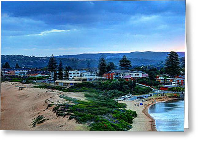 Vale Greeting Cards - Sunset Mona Vale Greeting Card by Gene Yu