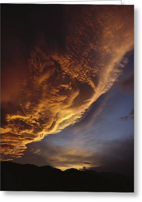 Sunset On Storm Clouds Near Mt Cook Greeting Card by Ian Whitehouse