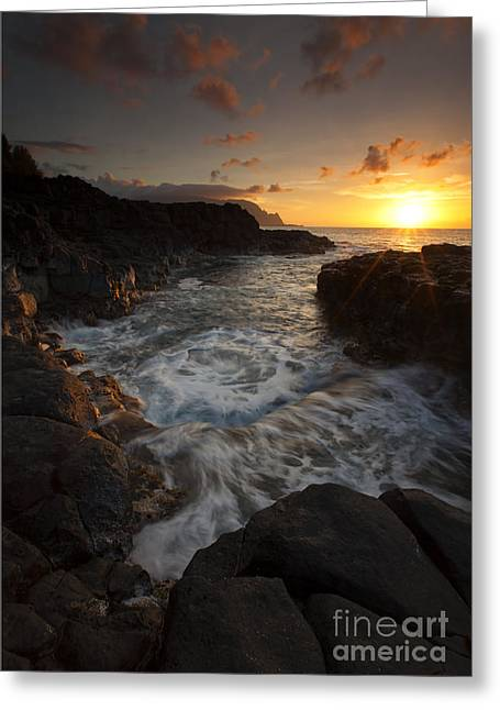 Tidepool Greeting Cards - Sunset Pool Greeting Card by Mike  Dawson