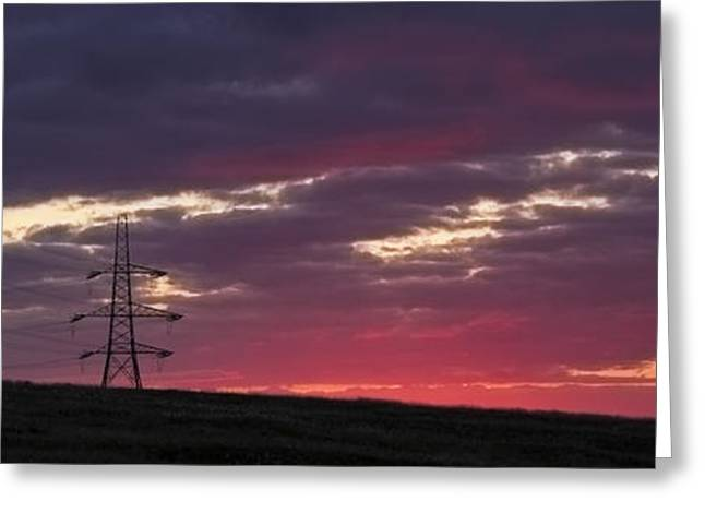 Sunset Pylon Greeting Card by Chris Smith