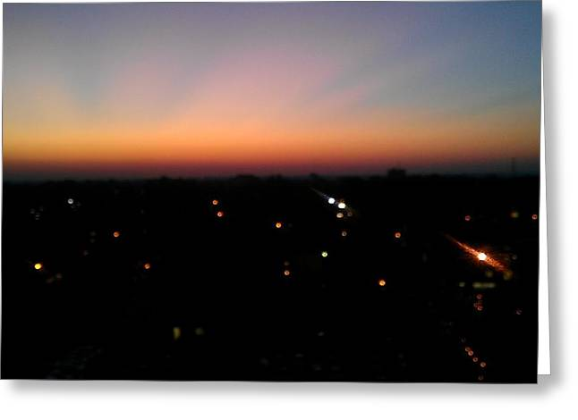 Bryant Denny Greeting Cards - Sunset Silhouette Greeting Card by Kenny Glover