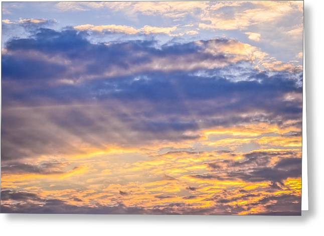 Turbulent Skies Photographs Greeting Cards - Sunset sky Greeting Card by Elena Elisseeva