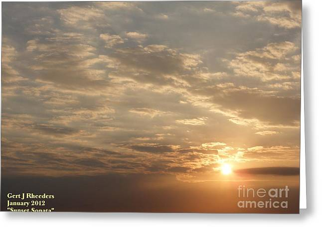 Commercial Photography Paintings Greeting Cards - SUNSET SONATA H a Greeting Card by Gert J Rheeders