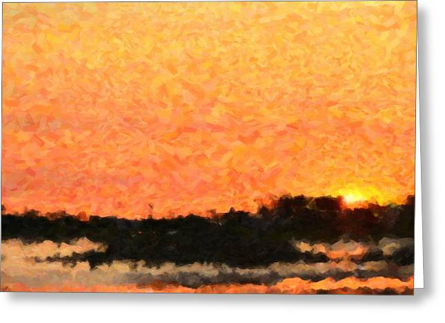 Sunset Greeting Card by Toppart Sweden