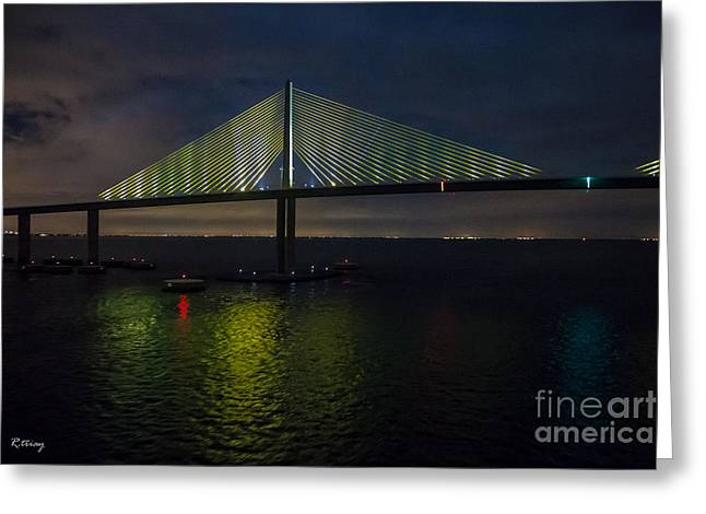 Sunshine Skyway Bridge Tampa Florida Greeting Card by Rene Triay Photography