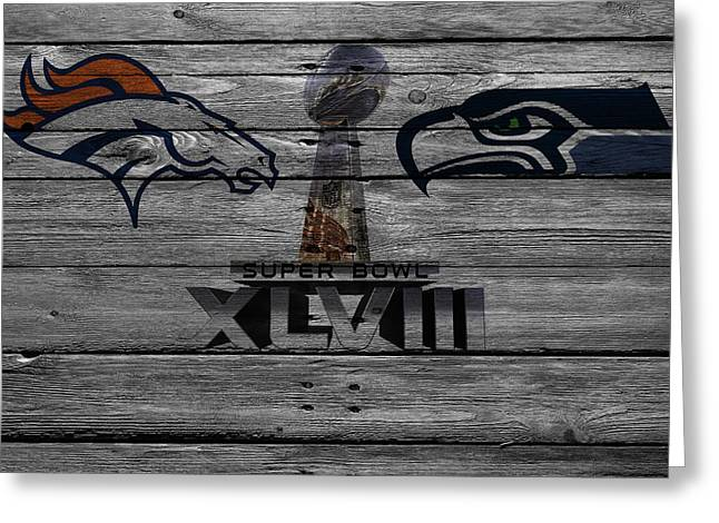 Super Bowl Xlviii Greeting Card by Joe Hamilton