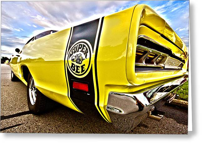Dodge Coronet Super Bee Greeting Cards - Super Close Super Bee  Greeting Card by Gordon Dean II