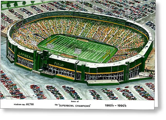 Wisconsin Art Greeting Cards - Superbowl Champions Greeting Card by Steven Schultz