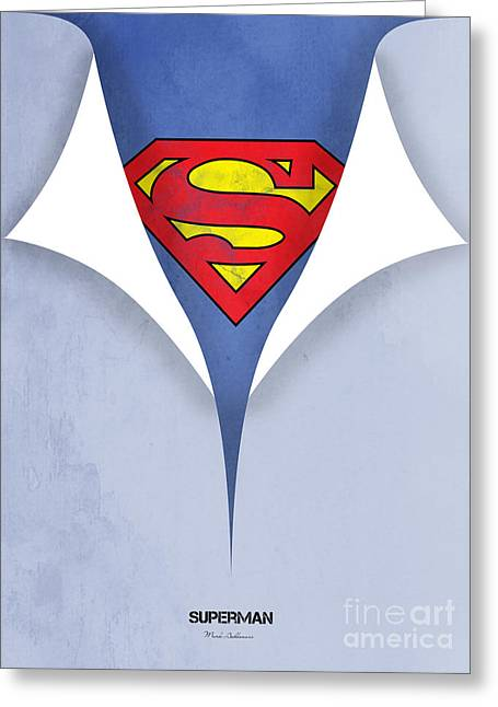Childrens Poster Greeting Cards - Superman 9 Greeting Card by Mark Ashkenazi