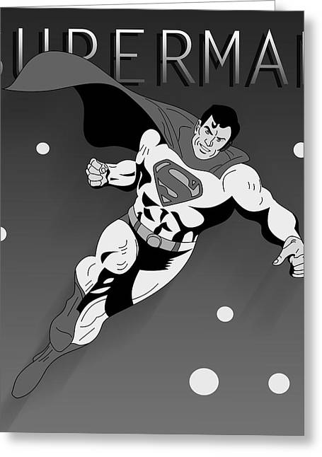 Funny Pop Culture Greeting Cards - Superman  Greeting Card by Mark Ashkenazi