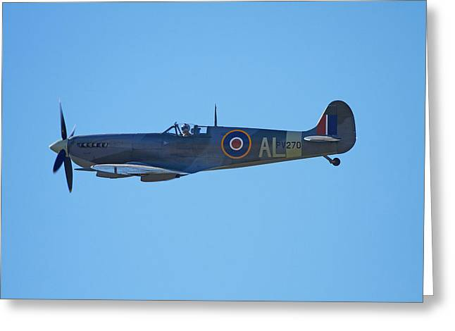 Supermarine Spitfire  -  British Greeting Card by David Wall