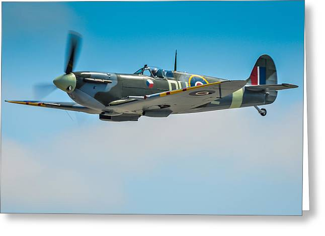Heritage Foundation Greeting Cards - Supermarine Spitfire Mk.Vc Greeting Card by Puget  Exposure