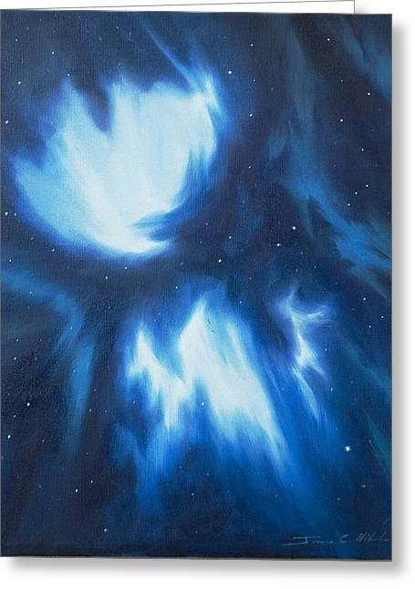 Stellar Paintings Greeting Cards - Supernova Explosion Greeting Card by James Christopher Hill