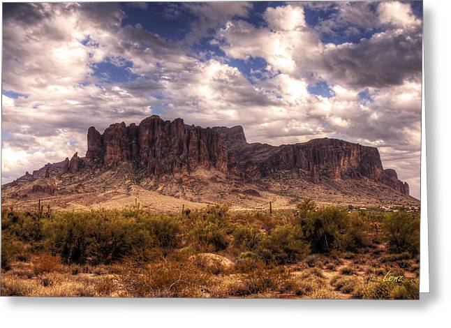 Desert Greeting Cards Greeting Cards - Supes-6 Greeting Card by George Lenz