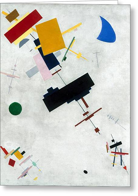 Malevich Greeting Cards - Suprematism Greeting Card by Kazimir Malevich