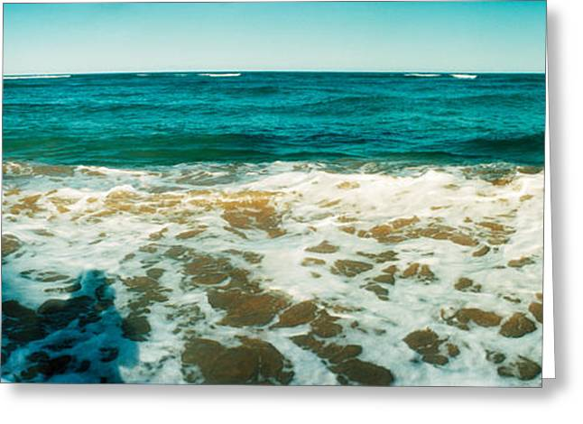 Sao Greeting Cards - Surf On The Beach, Morro De Sao Paulo Greeting Card by Panoramic Images