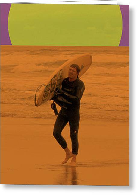 Beach Photography Greeting Cards - Surfing Oregon Greeting Card by Gary Grayson