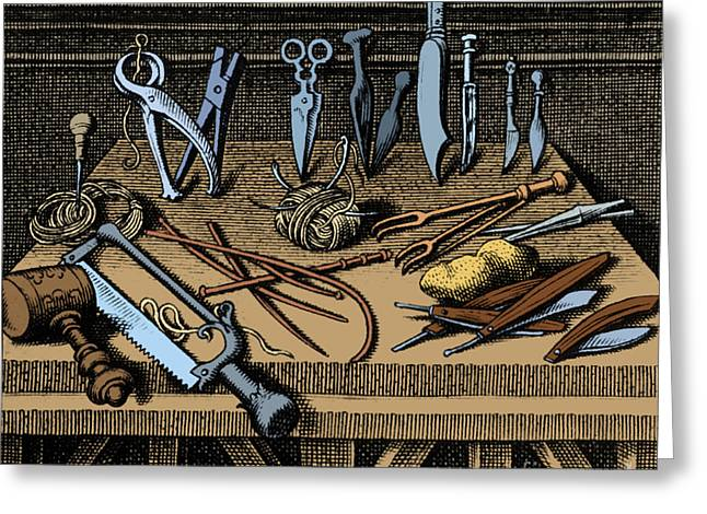 Surgical Equipment 16th Century Greeting Card by Science Source